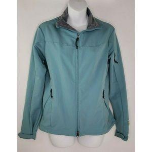 Mountain Hardwear Light Blue Soft Shell Zip Size S